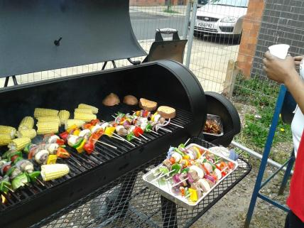 Our May Day BBQ to celebrate the opening of the hub