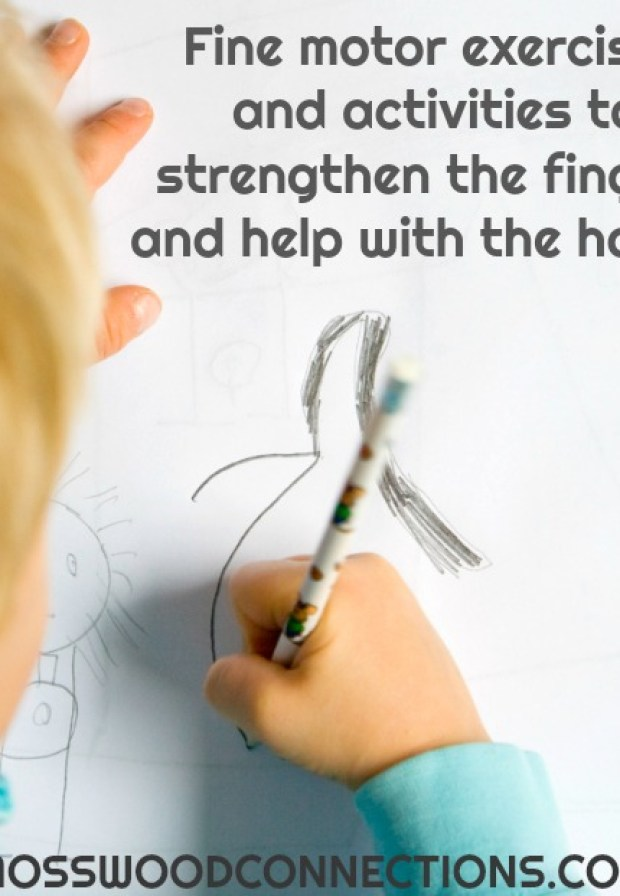 Fine motor activities to build fine motor skills