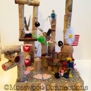 WINECRAFT PROCESS ART PROJECT MADE WITH RECYCLED MATERIALS