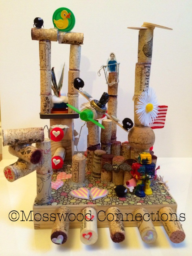 WineCraft Art Project using recycled items