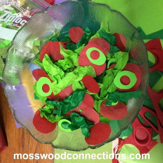 Make Me a Salad Please; A Simple Fine Motor Activity