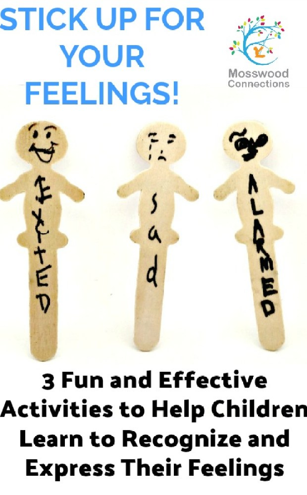 Stick Up For Your Feelings! A Social Skills activity to teach kids to express their feelings and recognize other's feelings. Develop perspective taking skills and whole body listening.