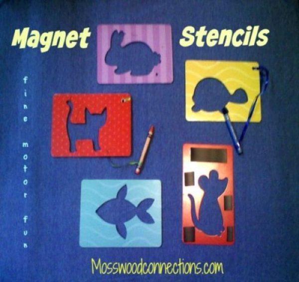 Magnet Stencils: Fine Motor Fun
