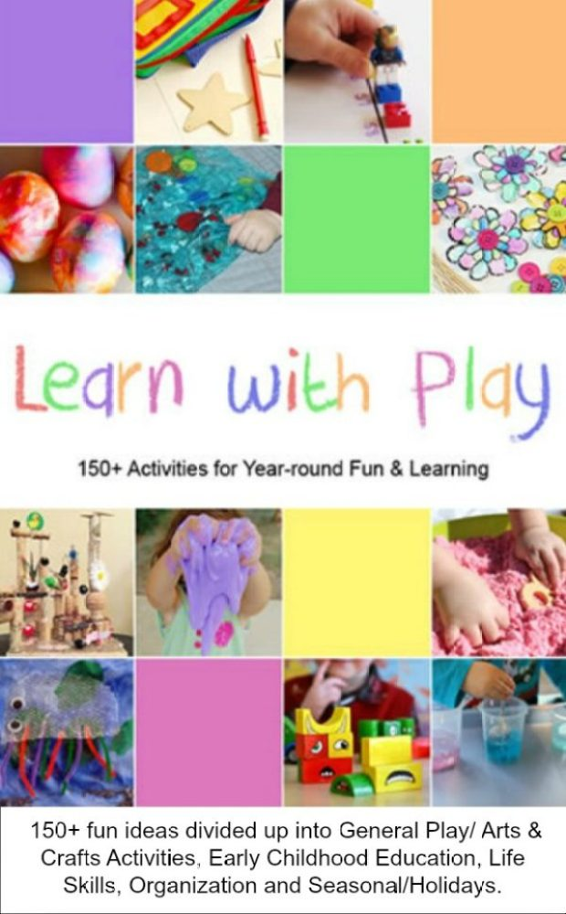 150+ fun ideas divided up into General Play/ Arts & Crafts Activities, Early Childhood Education, Life Skills, Organization and Seasonal/Holidays.