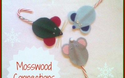 Kid-Made Mice Christmas Ornaments