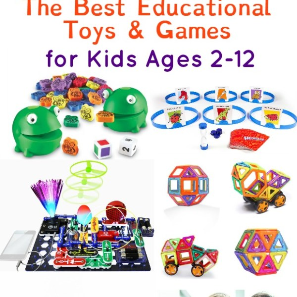 The Best Educational Gifts for Kids Ages 2-12 Kids will have so much fun they won't notice that they are learning, too! Games for reading, math, pretend, science!