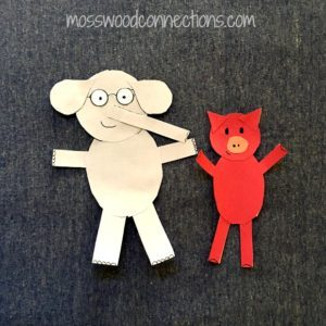 Piggie and Elephant Sharing Shapes Picture Book Activity