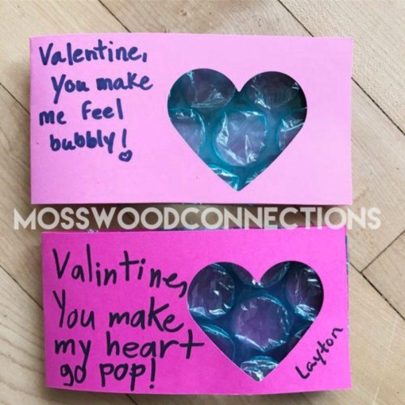 Sensory Friendly Bubble Wrap Valentine Easy Bubble Wrap Valentines