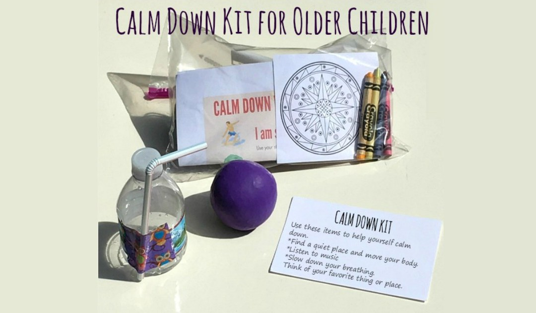 Calm Down Kit for Older Children; Developing Emotional Self-Regulation