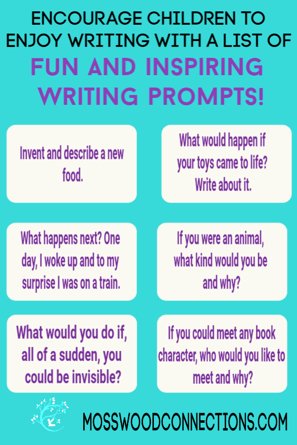 Picture Writing Prompts Elementary : picture, writing, prompts, elementary, Hundred, Writing, Prompts, Mosswood, Connections