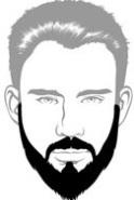 Beard Types - Ducktail Beard - Mossy Beard