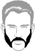 Beard Types - Friendly Mutton Chops Beard - Mossy Beard