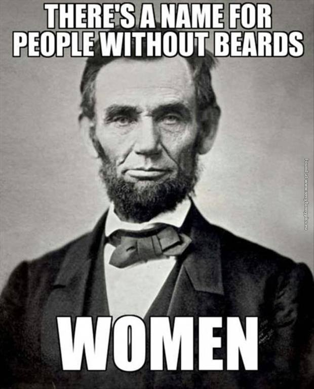 Name for People Without Beards: Women
