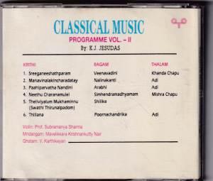 Classical Music Programme Vol. II by KJ Yesudas www.mossymart.com
