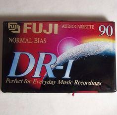Fuji DR-I 90 Blank Audio Tape Cassette Type 1 Normal Bias - www.mossymart.com