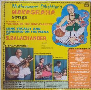 Muthuswami Dikhitar's Navagraha Songs LP Vinyl Record www.mossymart.com
