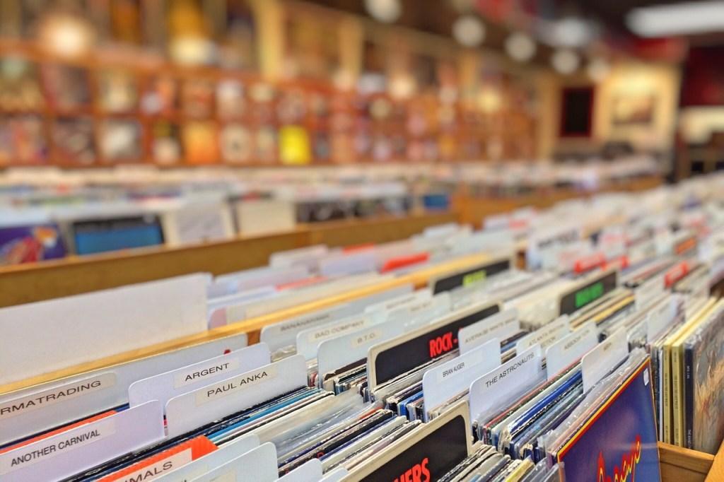 records, shop, vinyl