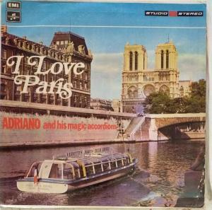 I Love Paris Adriano and his Magic Accordions LP Vinyl Record www.mossymart.com