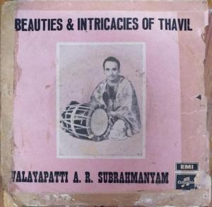 Beauties & Intricacies of Thavil EP Vinyl Record by Valayapatti Subramanian www.mossymart.com