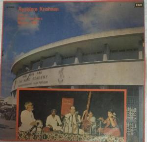 Ayyalore Krishnan Live t Music Academy Madras Carnatic Vocal LP Vinyl Record www.mossymart.com