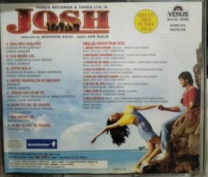 Josh - Hindi Audio CD by Anu Malik - 2 CD Pack - www.mossymart.com (2)