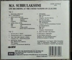 M.S. Subbulakshmi Live recording at the United Nations - Audio CD - www.mossymart.com (2)