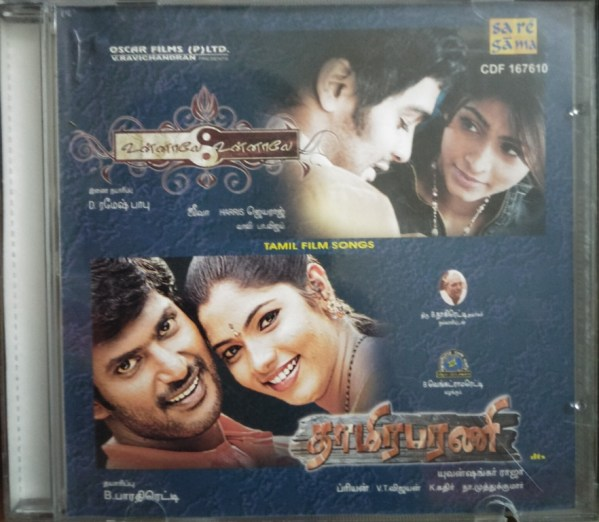 Unnaale Unnaale - Thaamirabharani - Tamil Audio CD by Harris Jayaraj - Yuvan Shankar Raja - www.mossymart.com (2)