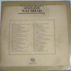 Mohd. Rafi sings for Naushad Hindi LP Vinyl Record www.mossymart.com