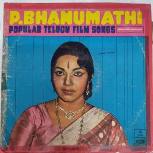 P.Bhanumathi Popular Telugu Film Songs LP Vinyl Record www.mossymart.com