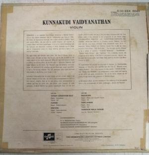 Violin Carnatic Instrumental LP Vinyl Record by Kunnakudi Vaidyanathan www.mossymart.com