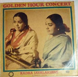 Golden Hour Concert Carnatic Vocal LP Vinyl Record by Radha Jayalakshmi www.mossymart.com