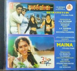 Bharateeyudu and Maina Telug Film Audio CD by AR Rahman www.mossymart.com