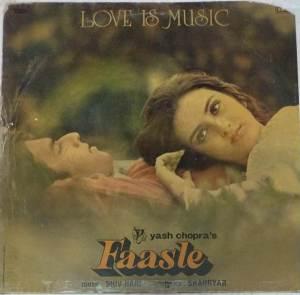 Faasle Hindi Film LP Vinyl Record by Shiv Hari www.mossymart.com