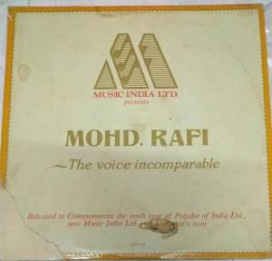 Mohd. Rafi The Voice Incomparable Hindi LP VInyl Records www.mossymart.com