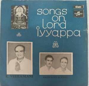 Songs on Lord Iyyappa Tamil Devotional EP Vinyl Record by K Veeramani www.mossymart.com