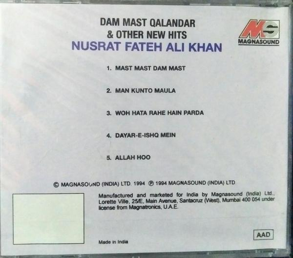 Dam Mast Qalandar & Other new hits Hindi Audio CD by Nusrat Fateh Ali Khan www.mossymart.com 1