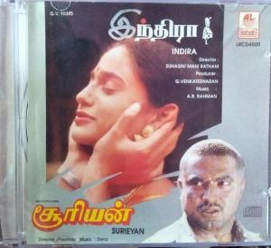 Indira & Surieyan Tamil Film Audio CD by A.R. Rahman - www.mossymart.com 1