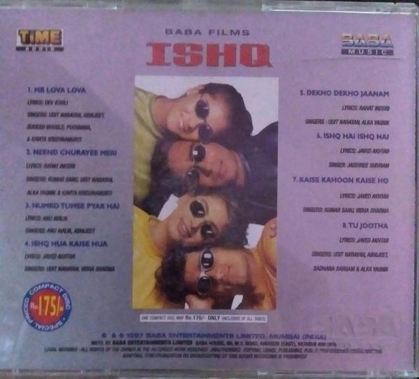 Ishq - Hindi Audio CD by Anu Malik - www.mossymart.com