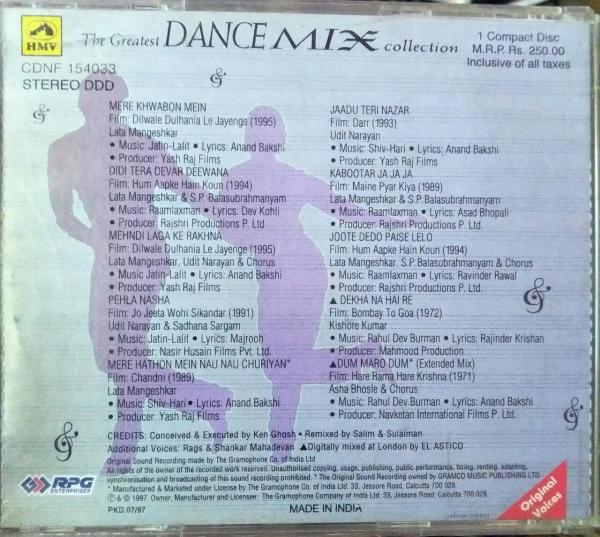 The Greatest Dance Mix Collection - Hindi Audio CD - www.mossymart.com