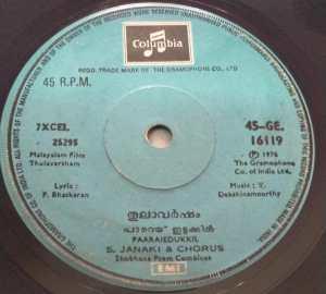 Thulavarsham Malayalam Film EP Vinyl Record by V Dakshinamoorthy www.mossymart.com 2