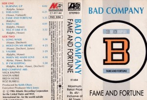 Bad Company English Album ( western music) www.mossymart.com 2