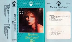 Barba Streisand wet English album Audio Cassette www.mossymart.com 1