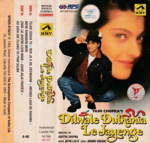 Dilwale Duthania Le Jayenge Hindi Film Audio Cassette by Anand Bakshi www.mossymart.com 1