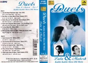 Duets Hindi Film Audio Cassette by Lata - Mukesh www.mossymart.com 1