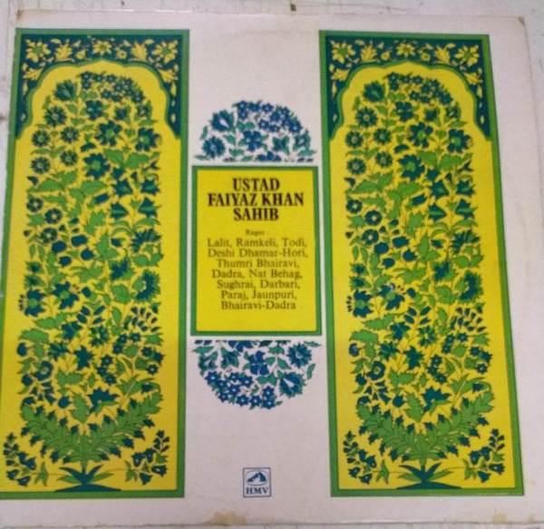 Hindustani Bhajan & Classical Lp Vinyl Record by Ustand Faiyaz JKhan Sahib www.mossymart.com 2