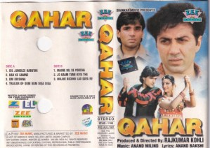 Qahar Hindi Film Audio Cassette by Anand Milind www.mossymart.com 1