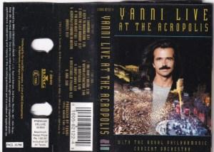 Yanni Live At The Acropolis English album Audio Cassette www.mossymart.com 1