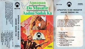 Apnam Do Musafir Aadmi Sadak Ka Hindi FIlm Audio Cassette www.mossymart.com 1