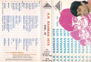 Hits from Tamil Films Audio Cassette by A R Rahman www.mossymart.com 2