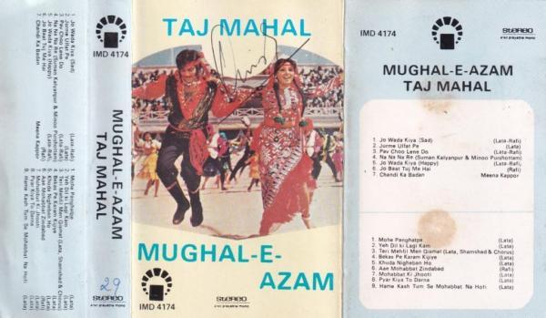 Taj Mahal - Mughal E Azam Hindi FIlm Audio Cassette www.mossymart.com 1